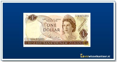 Geldwisselkantoor-1-Dollar-Queen-Elizabeth-II-1967-1981-Nieuw-Zeeland