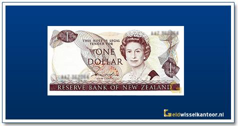 Geldwisselkantoor-1-Dollar-Queen-Elizabeth-II-1981-1992-Nieuw-Zeeland