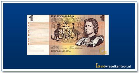 Australische Dollar-1-dollar-Queen-Elizabeth-II-1966-1983-Geldwisselkantoor