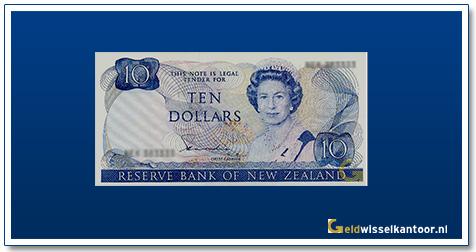 Geldwisselkantoor-10-Dollar-Queen-Elizabeth-1981-Nieuw-Zeeland