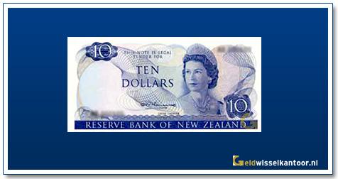 Geldwisselkantoor-10-Dollar-Queen-Elizabeth-II-1967-1981Nieuw-Zeeland