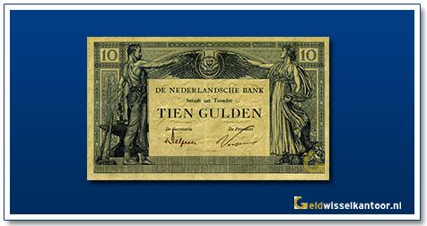 Nederland 10 1921 Gulden Arbeid en Welvaart II