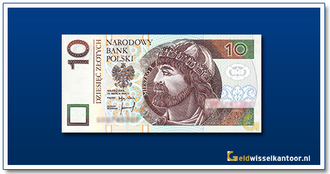Geldwisselkantoor-10-Zlotych-Prins-Mieszko-Polen-1994