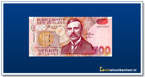 Geldwisselkantoor-100-Dollar-Lord-Rutherford-of-Nelson-Nieuw-Zeeland-1992