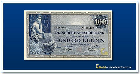 Nederland 100 Gulden 1921 Grietje Seel