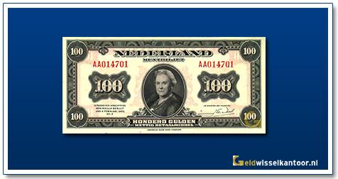 Nederland 100 Gulden 1943 Wilhelmina