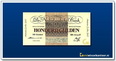 Nederland 100 Gulden 1945 Geldzuivering