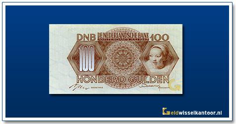 Nederland 100 Gulden 1947 Meisjeskop