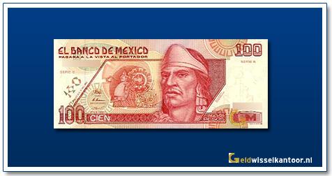 Geldwisselkantoor-100-Nuevos-Pesos-Nezahualcoyotl-1992-Mexico