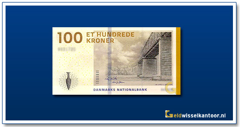 Deense-Kronen-100-kroner-2009-Little-Bridge-Denemarken