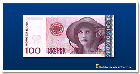 Geldwisselkantoor-100-kroner-Kirsten-Flagstad-noorwegen-2003