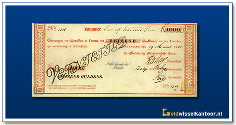Nederland 1000 Gulden 1814 Roodborstje