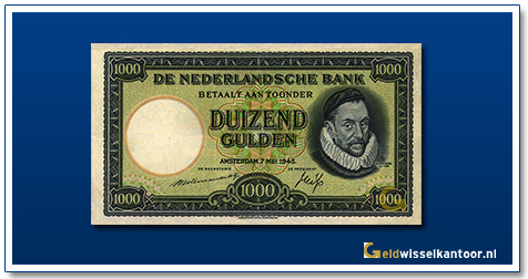 Nederland 1000 Gulden 1945 Willem de Zwijger