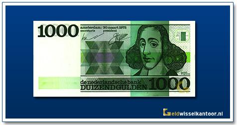 Nederland 1000 Gulden 1972 Spinoza