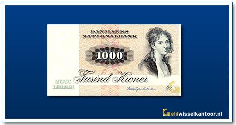 Deense Kronen-1000-kroner-1972-92-Thomasine-Heiberg-Denemaken