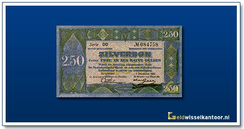 Nederland 2 1/2 Gulden 1918 Zilverbon