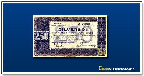 Nederland 2 1/2 Gulden 1938 Zilverbon