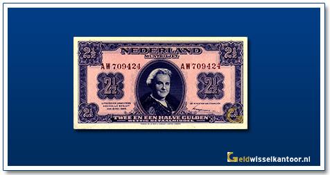 Nederland 2 1/2 Gulden 1945 Wilhelmina