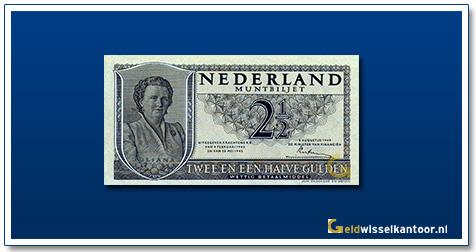 Nederland 2 1/2 Gulden 1949 Wilhelmina