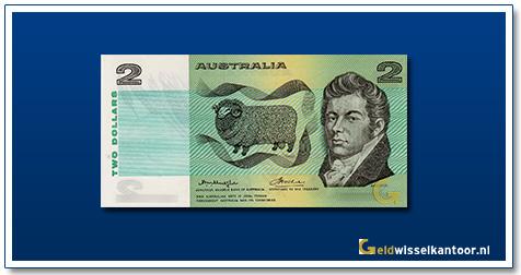 Australische Dollar-2-dollar-macarthur-1966-1985-Geldwisselkantoor