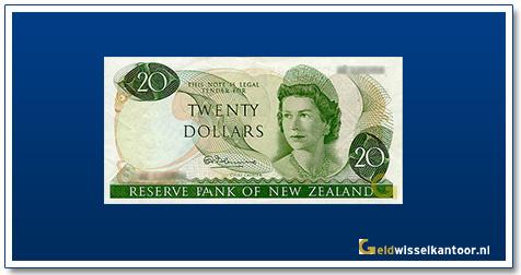 Geldwisselkantoor-20-Dollar-Queen--Elizabeth-II-1967-1981Nieuw-Zeeland