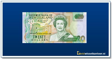 Geldwisselkantoor-20-Dollar-Queen-Elizabeth-II-1992-Nieuw-Zeeland