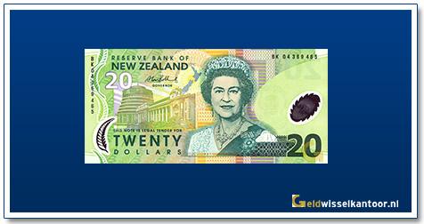 Geldwisselkantoor-20-Dollar-Queen-Elizabeth-II-1999-2005-Nieuw-Zeeland