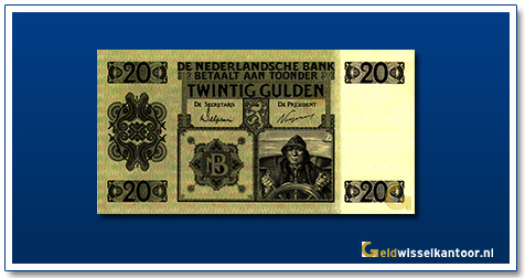 Nederland 20 Gulden 1926 Stuurman