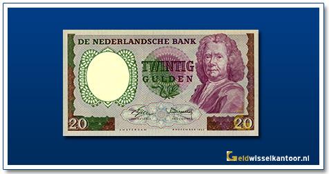 Nederland 20 Gulden 1955 Boerhaave