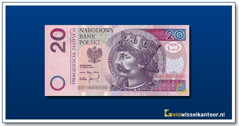 Geldwisselkantoor-20-Zlotych-Koning-Boleslaw-Polen-1994-95