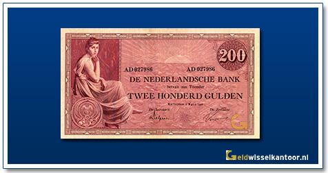 Nederland 200 Gulden 1921 Grietje Seel