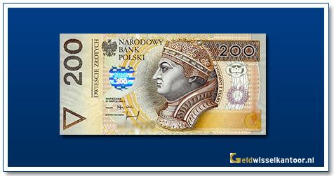 Geldwisselkantoor-200-Zlotych-Koning-Zygmunt-I-Polen-1994