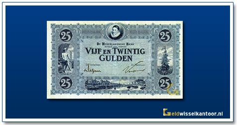 Nederland 25 Gulden 1927 Willem van Oranje blauw