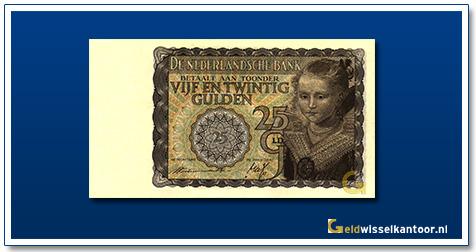 Nederland 25 Gulden 1940 Prinsesje geelbruin