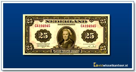 Nederland 25 Gulden 1943 II Wilhelmina