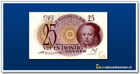Nederland 25 Gulden 1945 Meisje in blauw