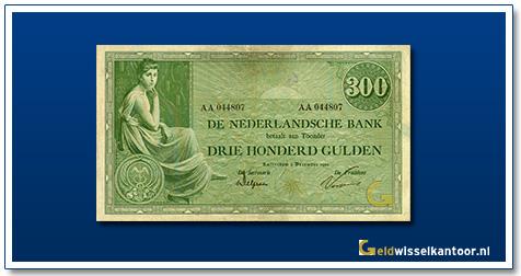 Nederland 300 Gulden 1921 Grietje Seel