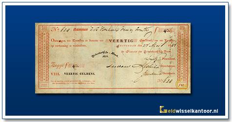 Nederland 40 Gulden 1814 Roodborstje