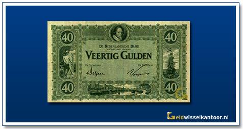 Nederland 40 Gulden 1921 Maurits