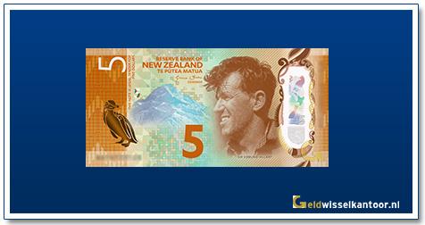 Geldwisselkantoor-5-Dollar-Sir-Edmunt-Hillary-2015-Nieuw-Zeeland