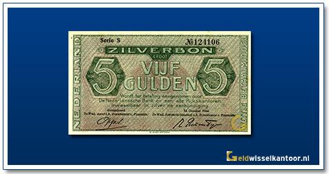 Nederland 5 Gulden 1944 Zilverbon
