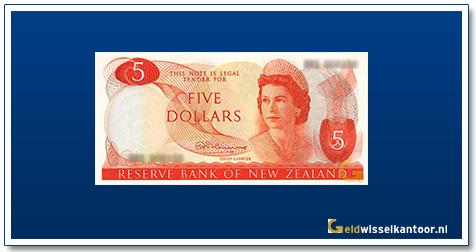 Geldwisselkantoor-5-dollar-Queen-Elizabeth-II-1967-1981-nieuw-zeeland-