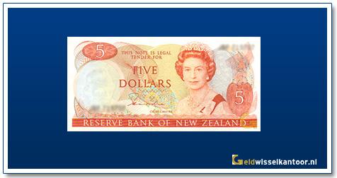 Geldwisselkantoor-5-dollar-Queen-Elizabeth-II-1981-1992-nieuw-zeeland-