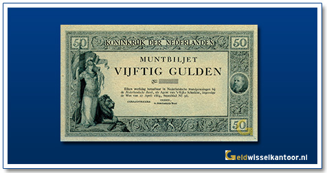Nederland 50 Gulden 1884