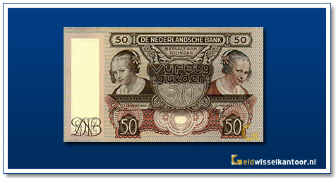 Nederland 50 Gulden 1941 Oestereetster
