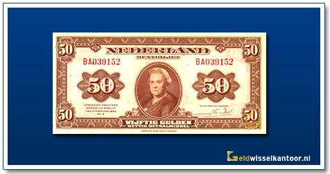 Nederland 50 Gulden 1943 Wilhelmina