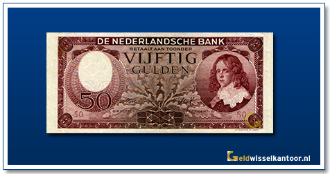Nederland 50 Gulden 1945 Stadhouder Willem III