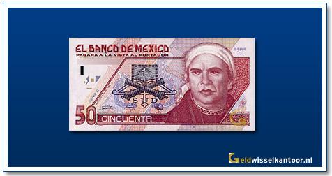 Geldwisselkantoor-50-Nuevos-Pesos-J-M-Morelos-1992-Mexico