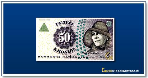 Deense Kronen-50-kroner-1999-02-Karen-Blixen-Denemarken