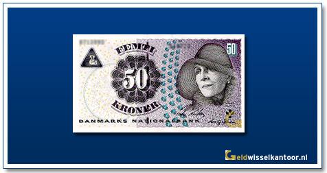 Deense Kronen-50-kroner-2004-2007-Karen-Bixen-Denemarken